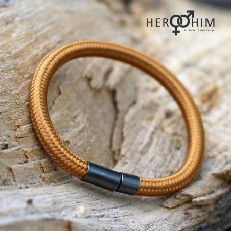 Armband van Textielsnoer - Goldy