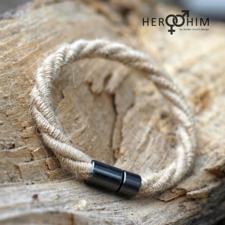 Armband van Textielsnoer - Twisted Jute