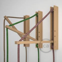 """""""Pinocchio"""", flexibel instelbare houten muurbevestiging voor hanglampen."""