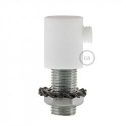 Witte plastic design trekontlaster met schroefdraaf, moer en ringetje