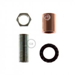 Koperen afwerking metalen design trekontlaster met schroefdraaf, moer en ringetje