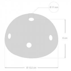 Keramische plafondplaat voorzien van meerdere gaten, voor 100% gemaakt in Italië - Oranje glazuur