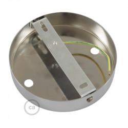 Metalen plafondkap geschikt voor 2 lampen - zwart