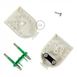 2-polige witte platte stekker 10A