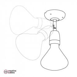 Fermaluce Classic, instelbaar porseleinen muur/plafond lamp