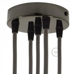 Metalen plafondkap geschikt voor 5 lampen - parelmoer