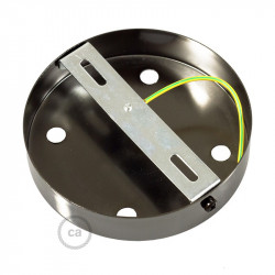 Metalen plafondkap geschikt voor 4 lampen - parelmoer