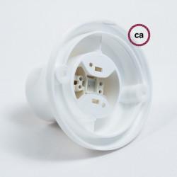 E27 Wandlamp recht van wit hard plastic