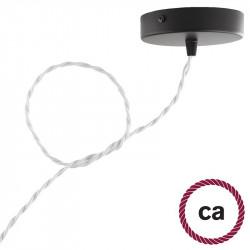 Gevlochten flexibel strijkijzersnoer van katoen. TC01 - wit
