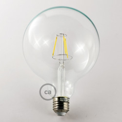Vintage niet dimbare decoratieve 4W LED lamp met kooldraad effect Globe XL G125 helder warm licht