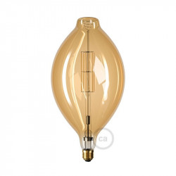 XXL LED Golden Light Bulb - Pulsvormige BT180 - 11W E27 Dimbaar 2000K