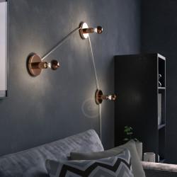 Koperen halve bol A60 LED-lamp 7W E27 2700K Dimbaar