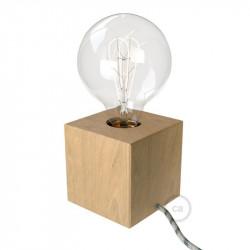 Posaluce Cubetto - Houten tafellamp