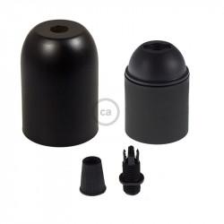 Metalen fittinghouder  E27 fitting - Matt zwart