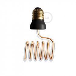 LED Art Loop Cross Light Bulb 12W E27 Dimbaar 2200K
