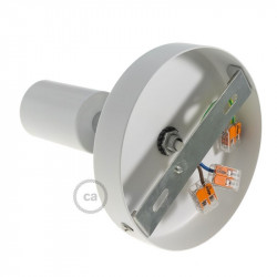 Wit metalen 90 graden instelbare wand- of plafond lamp
