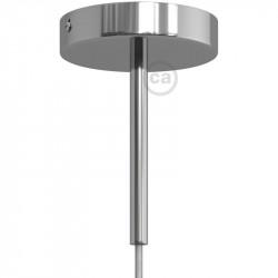 Koperen afwerking metalen ronde 15 cm trekontlasting klem voorzien van schroefdraad buis, moer en ring