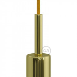 Messing afwerking metalen ronde 7 cm trekontlasting klem voorzien van schroefdraad buis, moer en ring