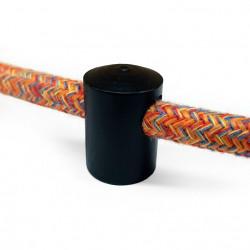 Zwarte stalen design wand- of plafond snoerbevestiging voor snoer
