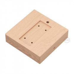 Vierkante basis voor Archet (To) in natuurlijk hout