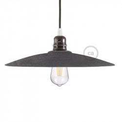 Beton effect keramische schijfvorm lampenkap voor verlichtingspendel