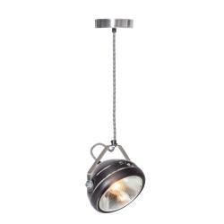 Geschuurde zwarte hanglamp...