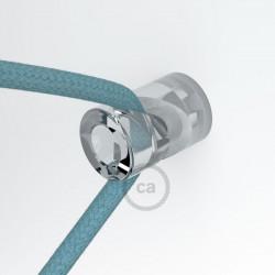 """Transparante design wand- of plafond snoerbevestiging """"V"""" voor strijkijzersnoer"""