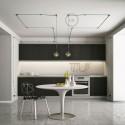 Universele zwarte design wand- of plafond snoerbevestiging voor strijkijzersnoer