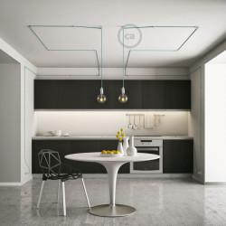 Universele witte design wand- of plafond snoerbevestiging voor strijkijzersnoer